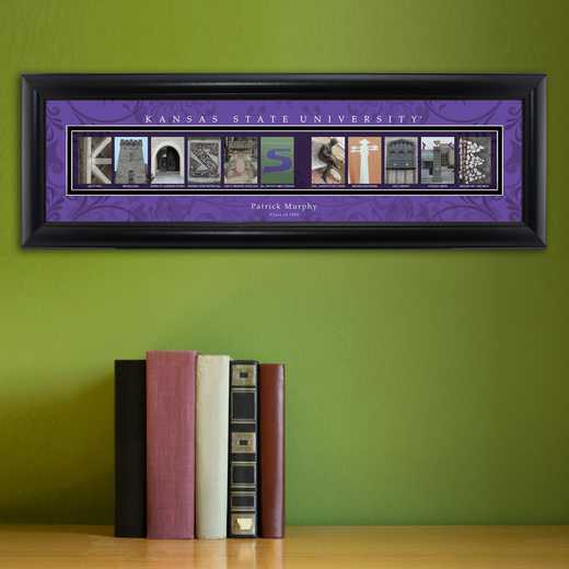 GC1068 KANSASST: PERSONALIZED ARCHITECTURAL ART, KANSAS ST