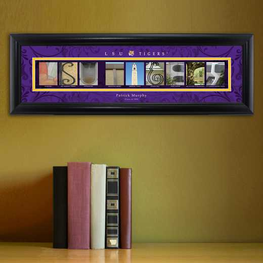 GC1068 LSU: PERSONALIZED ARCHITECTURAL ART, LSU