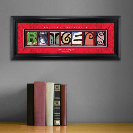 Rutgers Vinyl Record Wall Clock Rutgers Decor Rutgers Wall Art Rutgers Gifts
