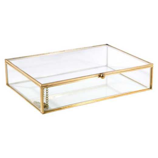 27150-GOLD: KEN Vintage Glass Keepsake Box in Gold