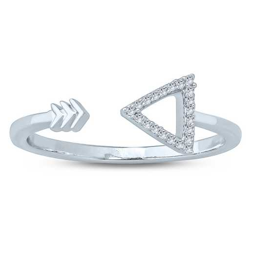 Diamond Accent Arrow Ring in Sterling Silver