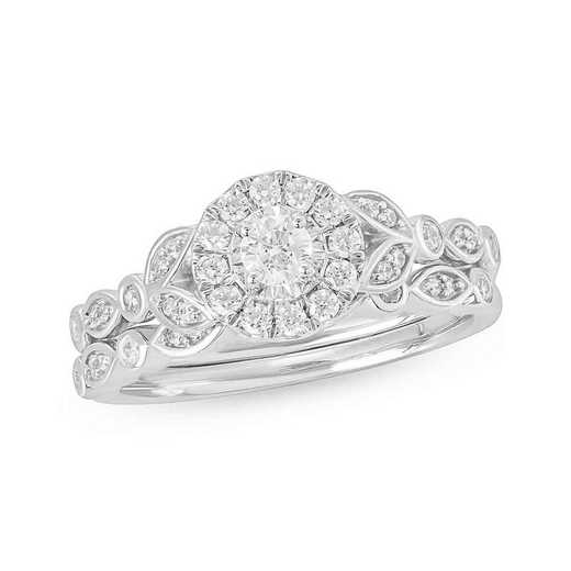 1/2 CT.T.W. Diamond Fashion Ring 10K White Gold