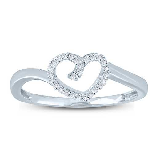 1/10 CT. T.W. Diamond Heart Knot Ring in Sterling Silver