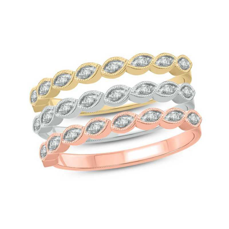 1/3 CT. T.W. Diamond Ring in 14k Gold-Plated Sterling Silver