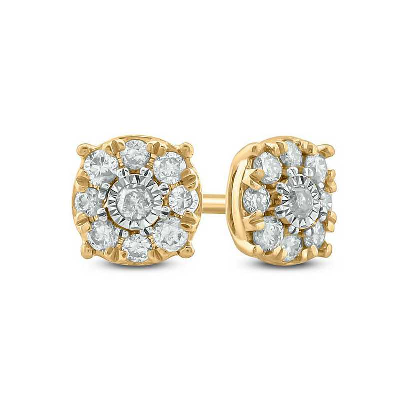 EFE5125310KT-Y: 10K YGLD Earrings W/ 1/4 CT. T.W. DMNDS
