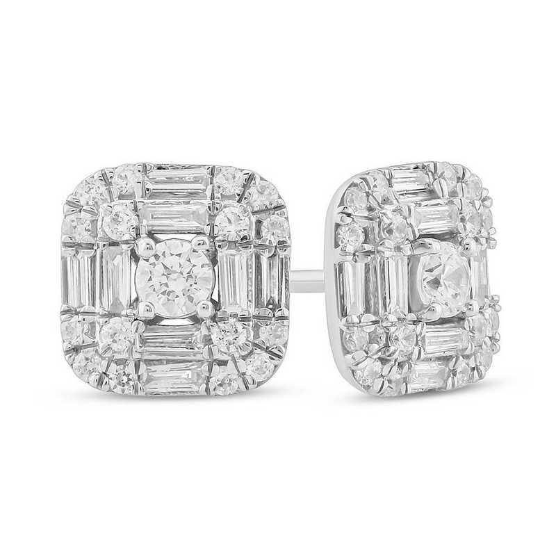 EFH5131010KT-W: 10K WGLD Earrings W/ 1/2 CT. T.W. DMNDS