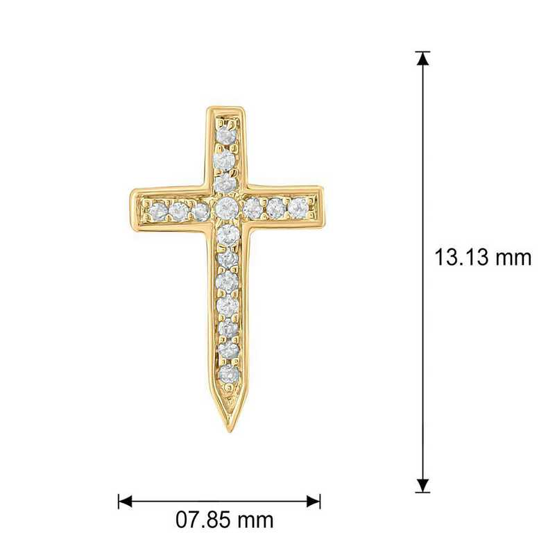 EMB4607710KT-P: 10K RSGLD Earrings W/ 1/10 CT. T.W. Accent DMNDS