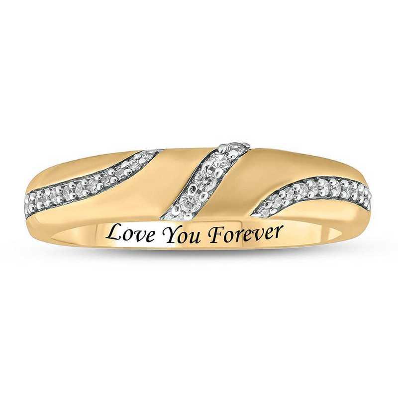 1/6 CT. T.W. Diamond Ring in 10K Yellow Gold