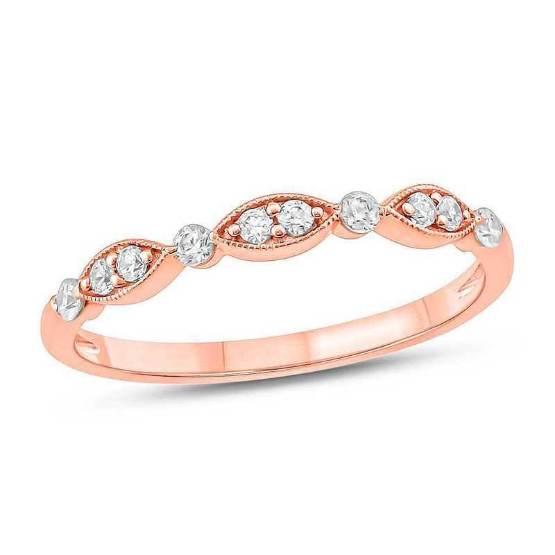 1/5 CT. T.W. Diamond Ring in 10K Rose Gold