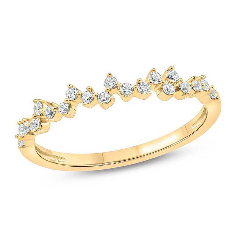 1/5 CT. T.W. Diamond Ring in 10K Yellow Gold