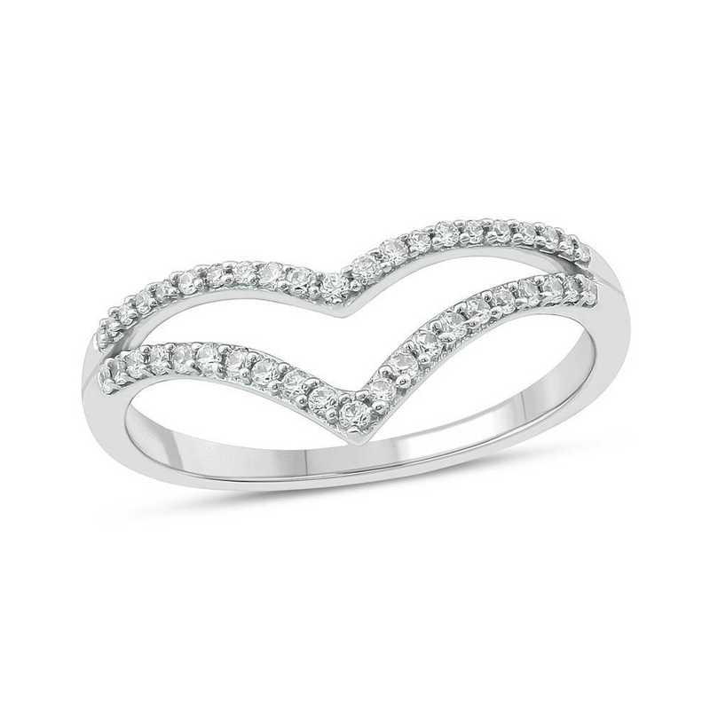 1/4 CT. T.W. Diamond Ring in 10K White Gold