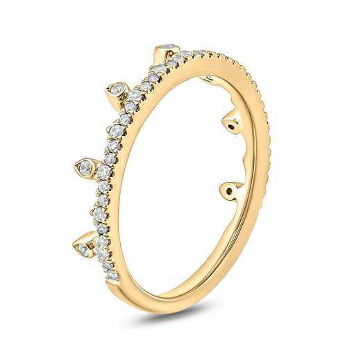 1/4 CT. T.W. Diamond Ring in 10K Yellow Gold