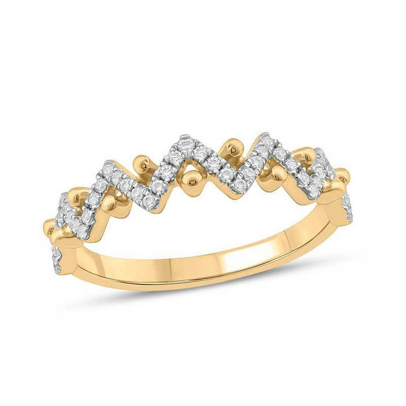 1/4 CT. T.W. Zigzag Diamond Ring in 10K Yellow Gold