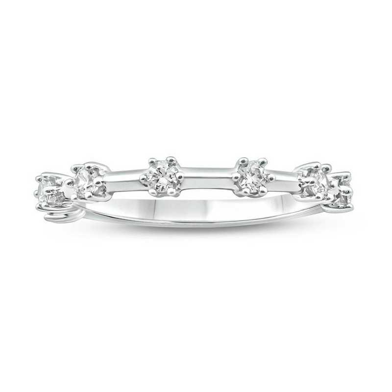1/4 CT. T.W. pavé Diamond Ring in 10K White Gold