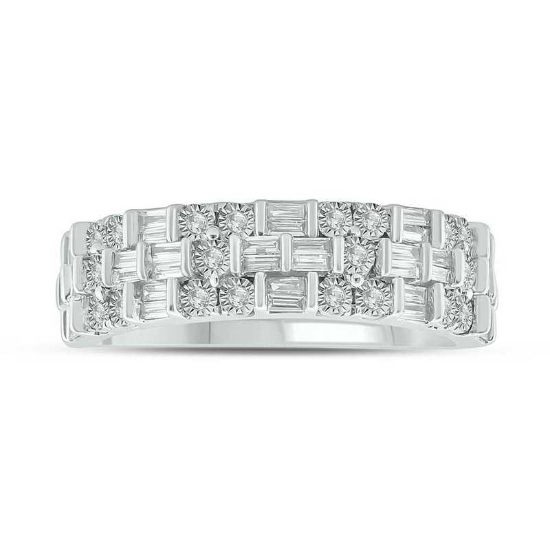 1/3 CT. T.W. Diamond Ring in Sterling Silver