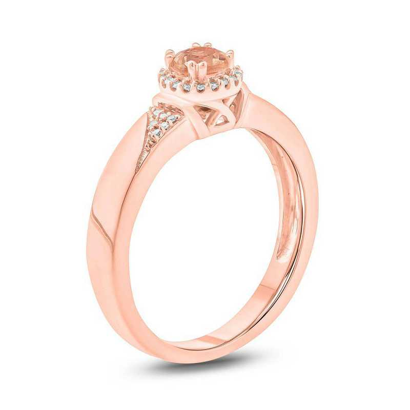 Morganite and Diamond Accent Ring in 10K Rose Gold