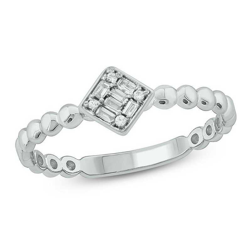Diamond Accent Ring in 10K White Gold