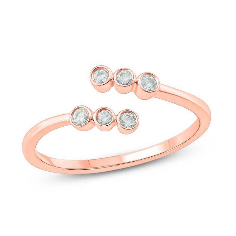 1/6 CT. T.W. Diamond Ring in 10K Rose Gold