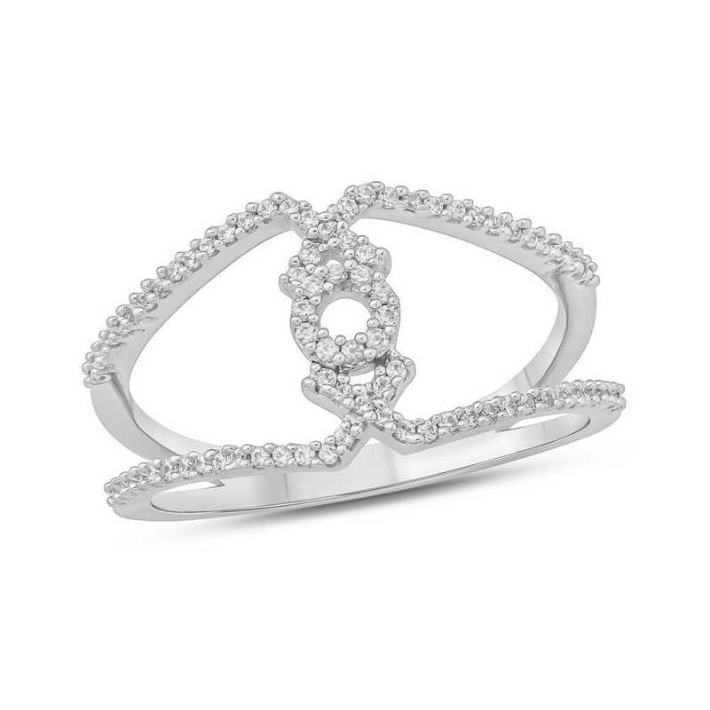 1/5 CT. T.W. Diamond Ring in 10K White Gold