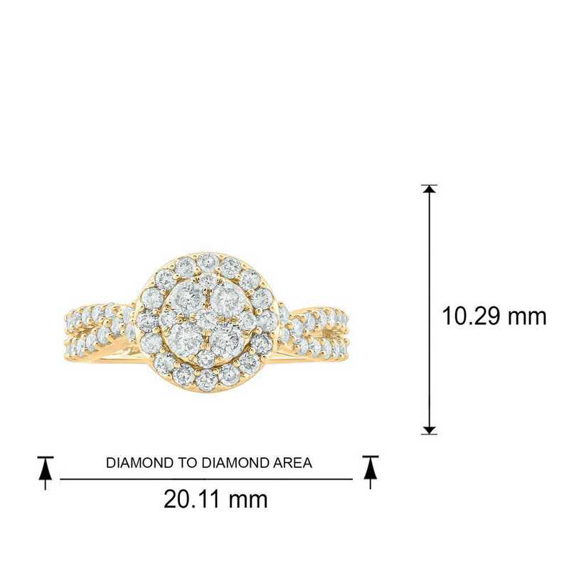 1/2 CT.T.W. Diamond Ring in 10K Yellow Gold