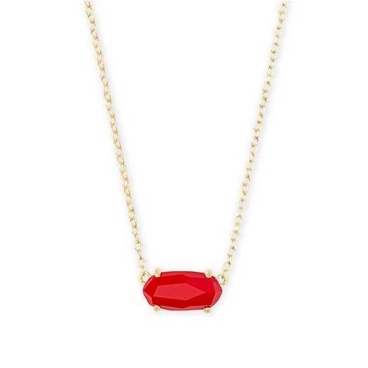 4217701791: EVER NECKLACE GOLD - RED