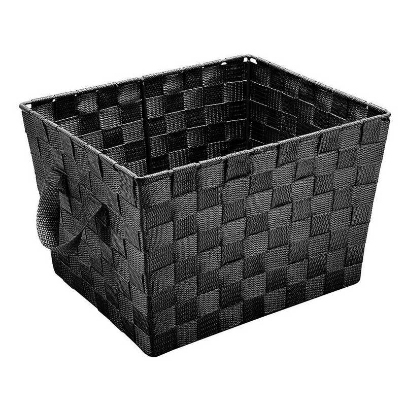 25092-BLACK: KEN  Small Woven Storage Bin in Black
