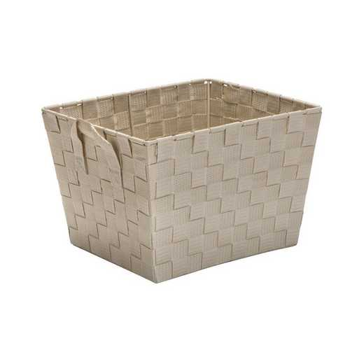 25092-IVORY: KEN  Small Woven Storage Bin in Ivory