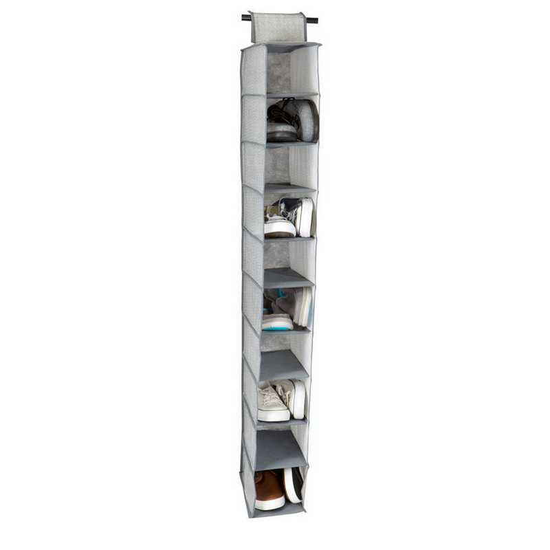 26607-GREY: KEN  10 Shelf  Shoe Organizer in Grey