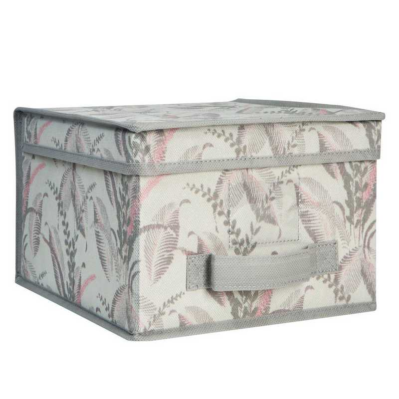 LA-95701: KEN LRG Collapsible Storage Box in Palm Leaf