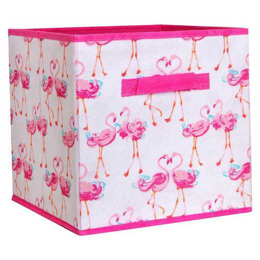 LA-95772: KEN Kids Collapsible Storage Cube in Pretty Flamingo