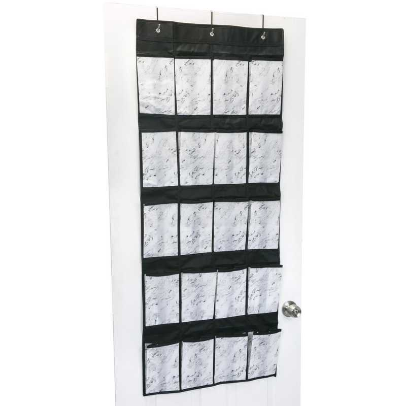 20 Pocket Marble Shoe Hanger