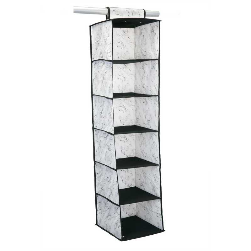 26837-MARBLE : 6 SHELF SWEATER ORGANIZER-MARBLE