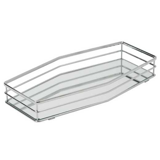 26417-CHR : KEN Double Rail Vanity Mirror Tray 14x7 -Chrome