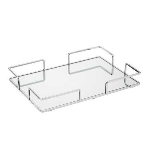 26423-CHR : KEN Modern Large Rectangular Mirror Tray 16x11-Chrome