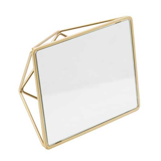 26428-SGOLD : KEN Geometric Two Way Vanity Mirror - SATIN GOLD