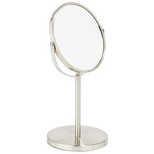 4778-SAT : KEN 7IN VANITY STANDUP MIRROR-SAT 5X- Satin Chrome