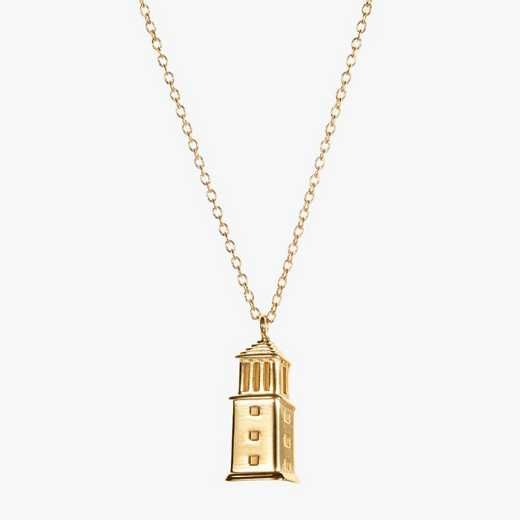 AL0207: Cavan Gold Alabama Denny Chimes Necklace by KYLE CAVAN