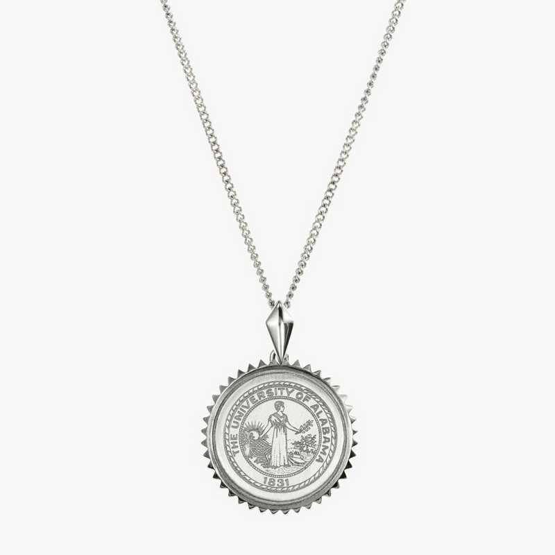 AL0115: Sterling Silver Alabama Sunburst Necklace by KYLE CAVAN
