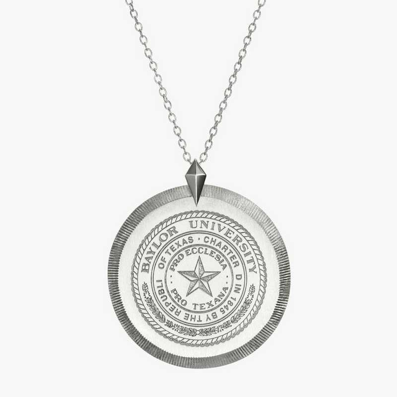 BAY0121: Sterling Silver Baylor Florentine Necklace by KYLE CAVAN