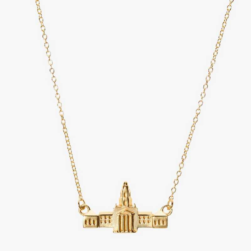 BAY0207: Cavan Gold Baylor Pat Neff Necklace by KYLE CAVAN