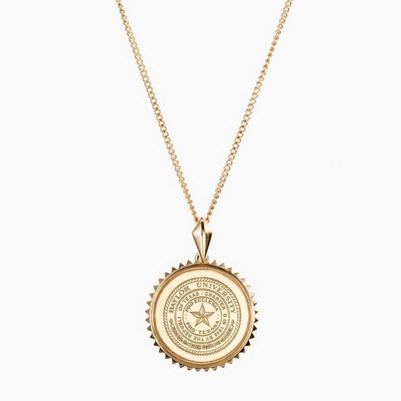 BAY0116: Cavan Gold Baylor Sunburst Necklace by KYLE CAVAN