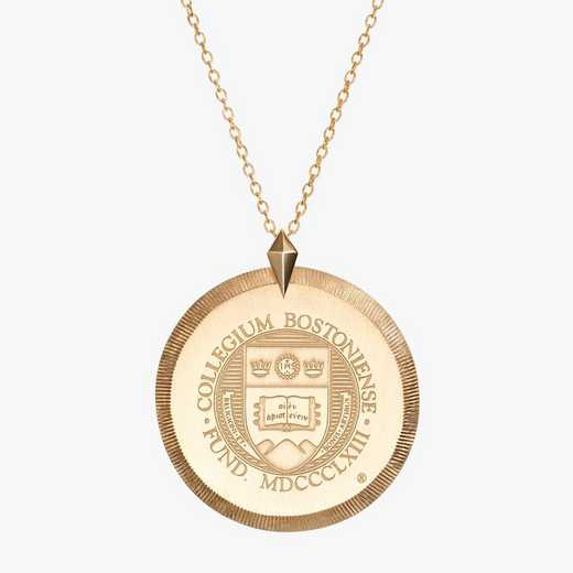 BC0122: Cavan Gold Boston College Florentine Necklace by KYLE CAVAN