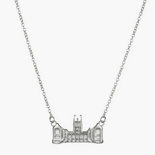 BC0206: Sterling Silver BC Gasson Hall Necklace by KYLE CAVAN