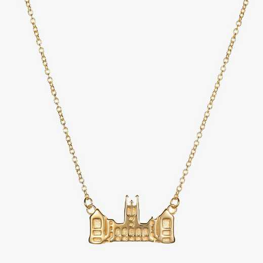 BC0207AU: 14k Yellow Gold BC Gasson Hall Necklace by KYLE CAVAN