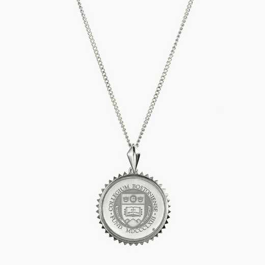 BC0115: Sterling Silver BC Sunburst Necklace by KYLE CAVAN