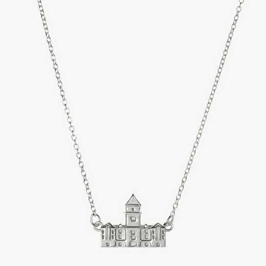 CL0206: Sterling Silver Clemson Tillman Hall Necklace by KYLE CAVAN