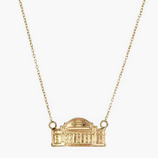 CLM0207AU: 14k Yellow Gold Columbia Low Library Necklace by KYLE CAVAN