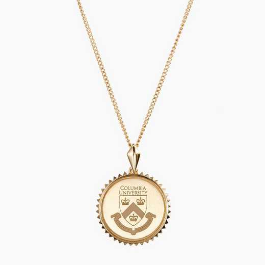 CLM0116AU: 14k Yellow Gold Columbia Sunburst Necklace by KYLE CAVAN