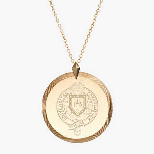 FU0122AU: 14k Yellow Gold Fordham Florentine Necklace by KYLE CAVAN