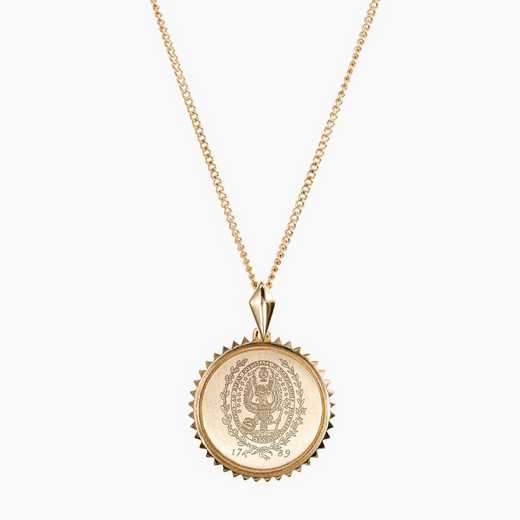 GTW0116: Cavan Gold Georgetown Sunburst Necklace by KYLE CAVAN